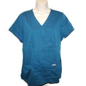 Grey's Anatomy Scrub Top Teal Blue Green Medical